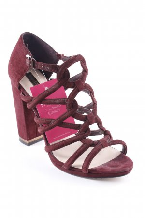 BCBG Maxazria High Heel Sandaletten bordeauxrot Elegant