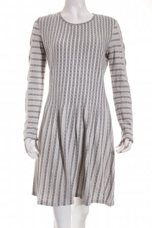 BCBG Maxazria Jersey Dress white-black striped pattern casual look
