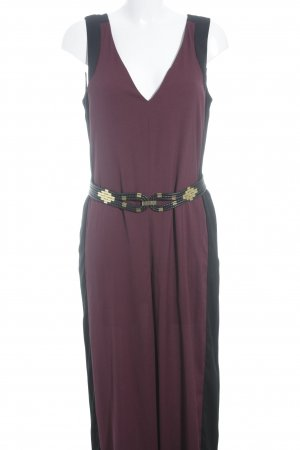 BCBG Maxazria Jumpsuit black-brown red color blocking casual look