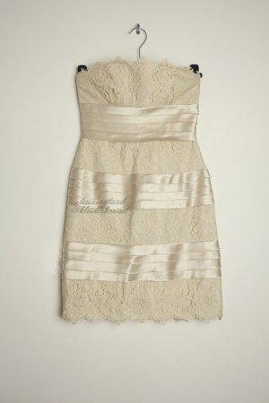 BCBG Maxazria Kleid aus Spitze und Satin