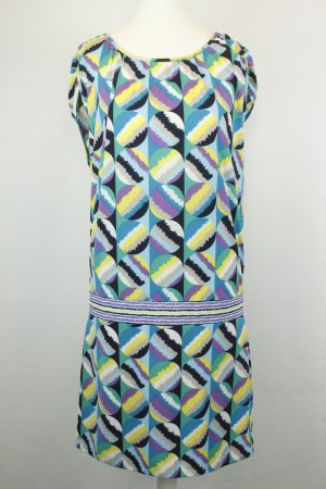 BCBG Maxazria Kleid Kurzarmkleid Gr. M bunt Hippie Muster