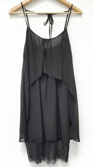 BCBG Maxazria Kleid schwarz mit Spitze