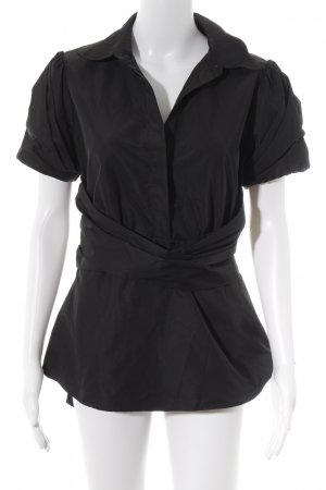 BCBG Maxazria Kurzarm-Bluse schwarz Elegant