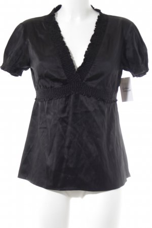 BCBG Maxazria Short Sleeved Blouse black elegant