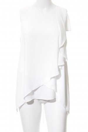 BCBG Maxazria Kurzarm-Bluse weiß Elegant