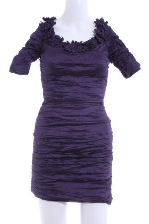 BCBG Maxazria Shortsleeve Dress lilac wet-look