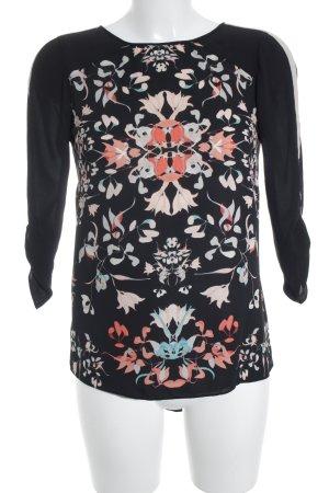 BCBG Maxazria Langarm-Bluse Blumenmuster schlichter Stil