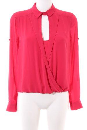 BCBG Maxazria Long Sleeve Blouse red elegant