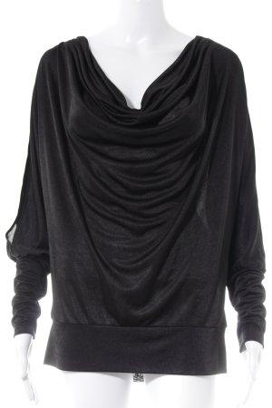 BCBG Maxazria Langarm-Bluse schwarz Elegant
