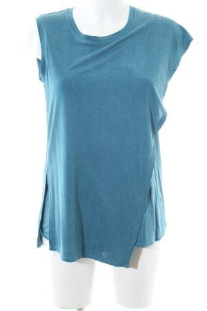 BCBG Maxazria Lang shirt blauw gestippeld casual uitstraling