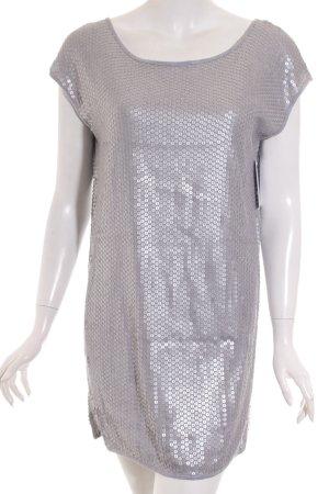 BCBG Maxazria Longshirt hellgrau-silberfarben klassischer Stil