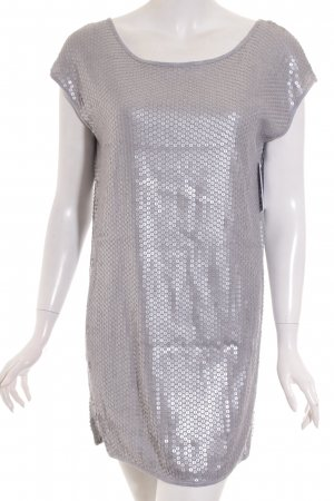 BCBG Maxazria Long Shirt light grey-silver-colored classic style