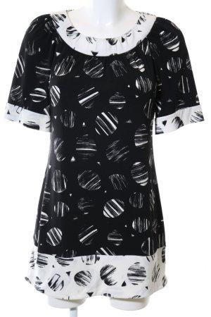 BCBG Maxazria Minikleid wollweiß-schwarz abstraktes Muster Casual-Look