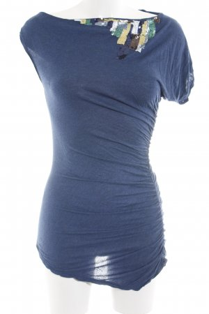 BCBG Maxazria Minikleid blau meliert Casual-Look