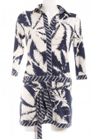 BCBG Maxazria Mini Dress dark blue-white abstract pattern street-fashion look