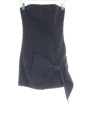 BCBG Maxazria Mini-jurk zwart gestippeld patroon elegant