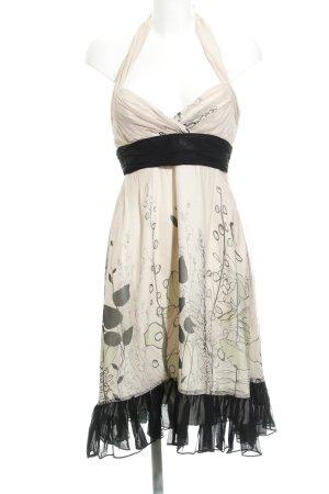 BCBG Maxazria Vestido de cuello Halter estampado con diseño abstracto