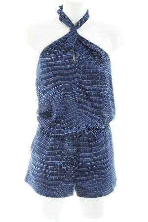 BCBG Maxazria Top senza maniche blu motivo animale stile casual