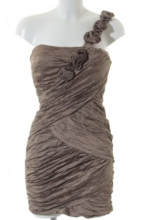 BCBG Maxazria One-Shoulder-Kleid beige Elegant