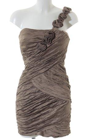 BCBG Maxazria One Shoulder Dress beige elegant