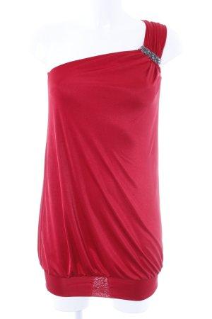 BCBG Maxazria Top monospalla rosso elegante