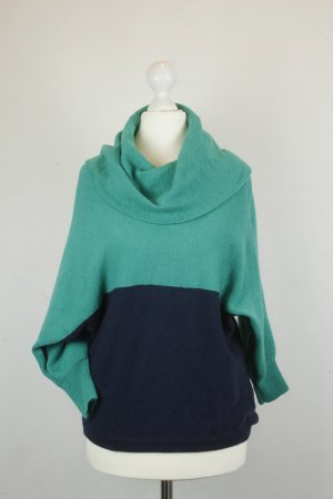 BCBG MAXAZRIA Pullover Wollpullover Gr.XS dunkelblau/grün Rollkragen
