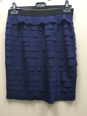 BCBG Maxazria Rock Bleistiftrock blau dunkelblau Reißverschluss Gr. 36 S