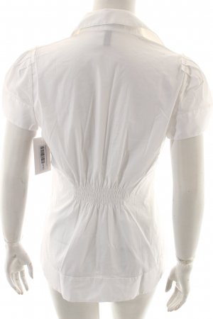 BCBG Maxazria Ruffled Blouse white elegant