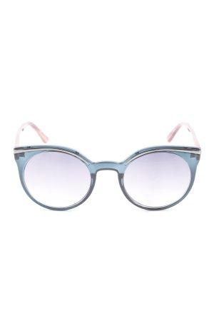 BCBG Maxazria Round Sunglasses slate-gray-bright red casual look