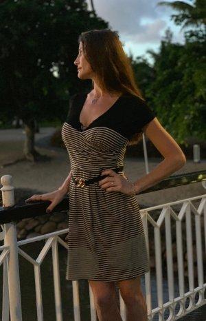 BCBG maxazria sailor pinstripe pinup Couture kleid