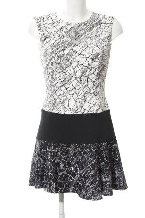 BCBG Maxazria Peplum Dress black-white mixed pattern casual look