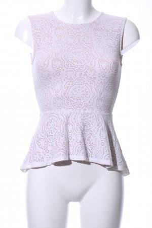 BCBG Maxazria Peplum Top white-natural white business style