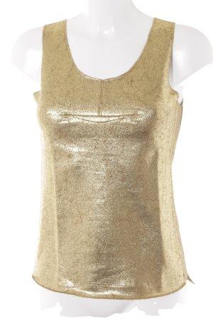 BCBG Maxazria Peplum Top gold-colored glittery