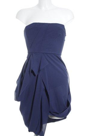 BCBG Maxazria schulterfreies Kleid stahlblau Party-Look