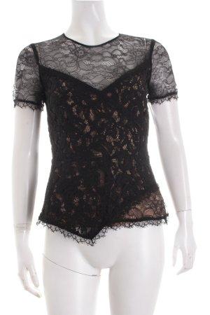 BCBG Maxazria Shirt schwarz-nude Elegant