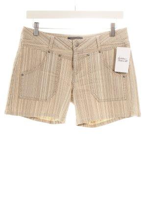 BCBG Maxazria Shorts beige-creme Streifenmuster Beach-Look