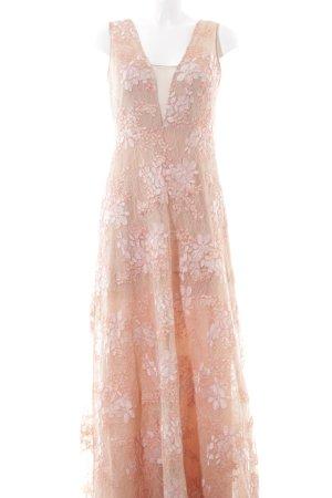 BCBG Maxazria Spitzenkleid pink-creme Blumenmuster Elegant