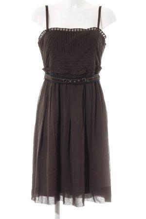 BCBG Maxazria Pinafore dress dark brown elegant