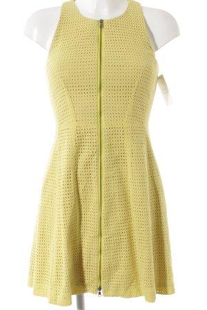 BCBG Maxazria Trägerkleid gelb-nude Punktemuster Street-Fashion-Look