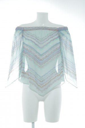 BCBG Maxazria Transparenz-Bluse grafisches Muster Casual-Look