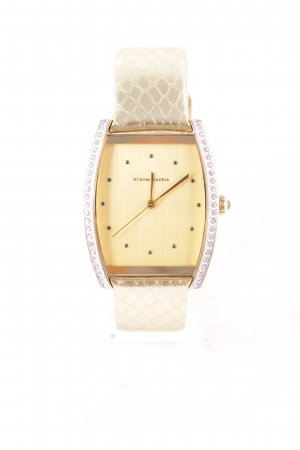 BCBG Maxazria Watch With Leather Strap gold-colored casual look