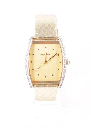 BCBG Maxazria Montre avec bracelet en cuir doré style décontracté