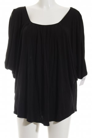BCBG Maxazria Cowl-Neck Shirt black casual look