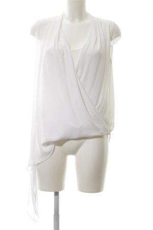 BCBG Maxazria Wraparound Blouse white business style