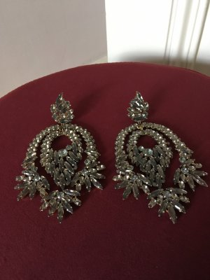 BCBG Statement Earrings grey-silver-colored