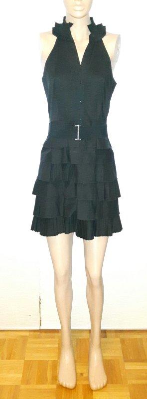 BCBG Rüschenkleid in schwarz