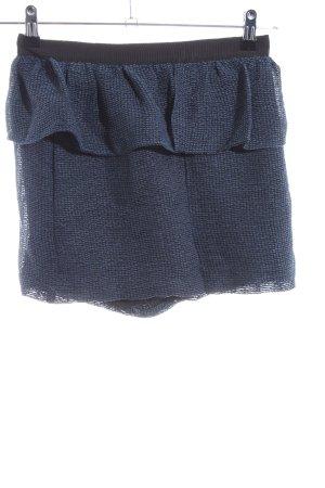 BCBG Skorts blue-black weave pattern casual look