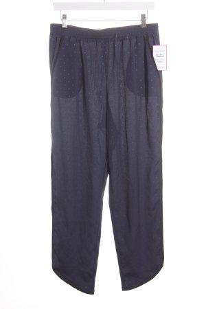BCBG Pantalon en jersey bleu foncé-noir motif de tache style décontracté