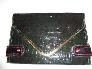BCBG Tasche Clutch dunkelgrün lila