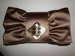 BCBG Tasche Clutch satin bronze
